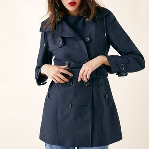 Zara Dark Blue Trench Coat